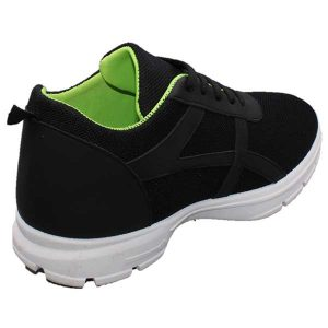 حذاء رجالي اسود رباط عملي قماش