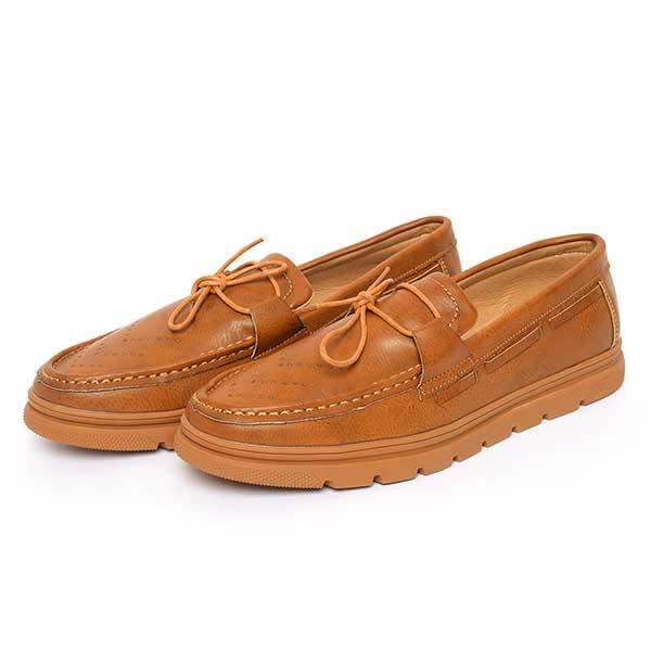حذاء رجالي جلد صناعي نعل كوتشي جملي