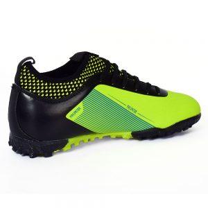 حذاء كرة رجالي - ترتان - جلد - اسود